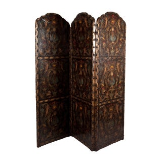 Rich Brown Leather Screen