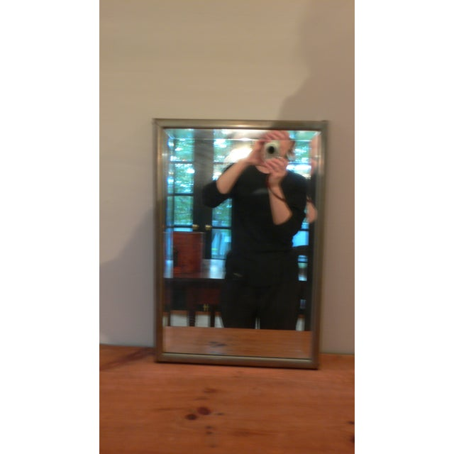 Early 20th Century Industrial Bathroom Mirror For Sale - Image 4 of 6