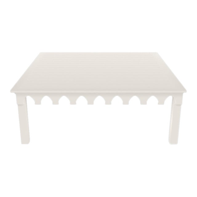 Oomph Ocean Drive 42 Outdoor Coffee Table, White For Sale