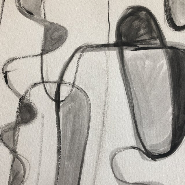 Abstract Original Contemporary Stewart Ross Abstract Painting on Paper For Sale - Image 3 of 5