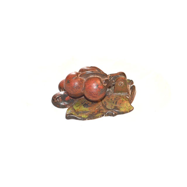 Cast Iron Hubley Cherries Door Knocker For Sale - Image 7 of 8