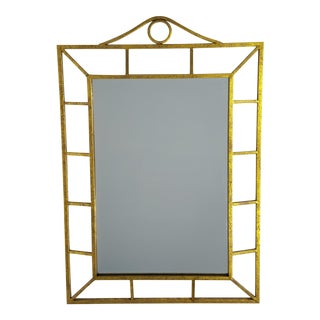 Transitional Gold Metai Mirror For Sale