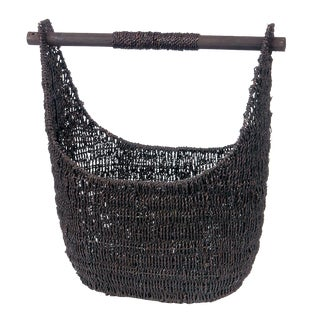 Balinese Black Seagrass Large Basket For Sale