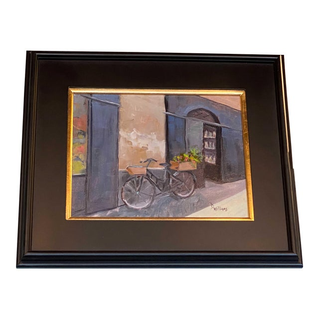 19th Century Painting of Bicycle For Sale