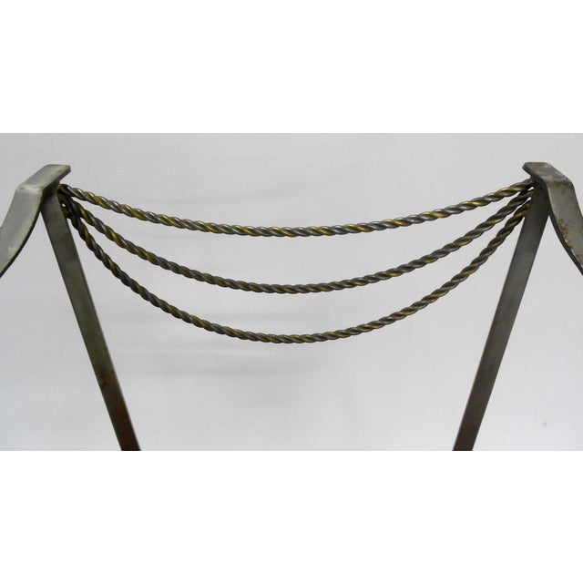 Neoclassical Inspired Metal Armchair - Image 8 of 8