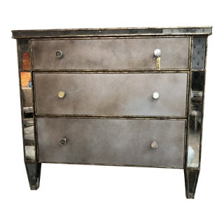Century Mirrored Nightstand For Sale