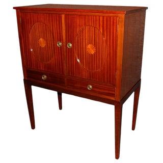 Swedish Mahogany Inlaid Bar / Storage Cabinet For Sale