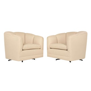 Mid-Century Modern Swivel Chairs - a Pair For Sale
