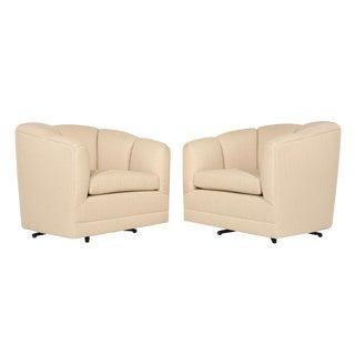 Mid-Century Modern Swivel Chairs - a Pair