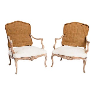 19th Century Antique Louis XV Chairs- A Pair For Sale