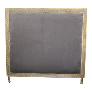 Vintage Louis XVI Upholstered Headboard For Sale