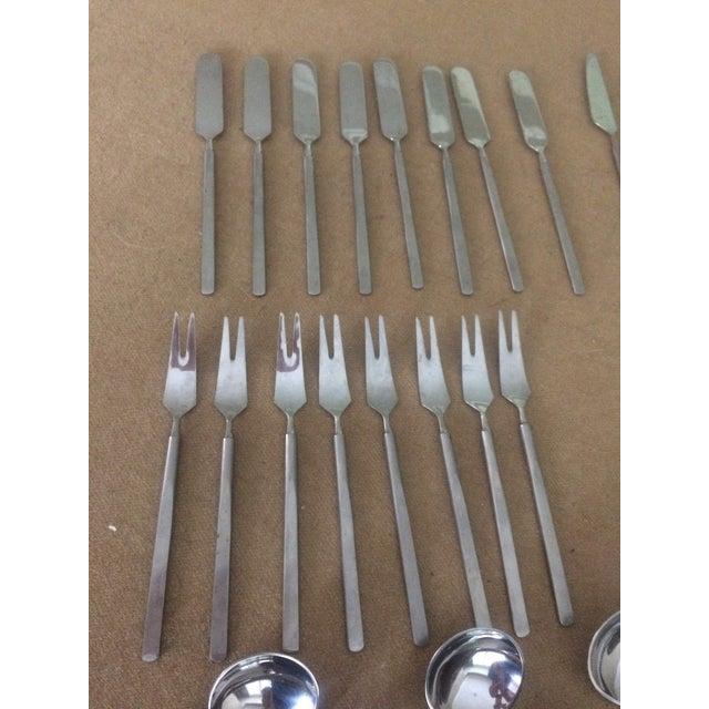 1950's Danish Modern Eric Herlow Oblisk Flatware - Service for 8 (84 Pieces) For Sale In Los Angeles - Image 6 of 11
