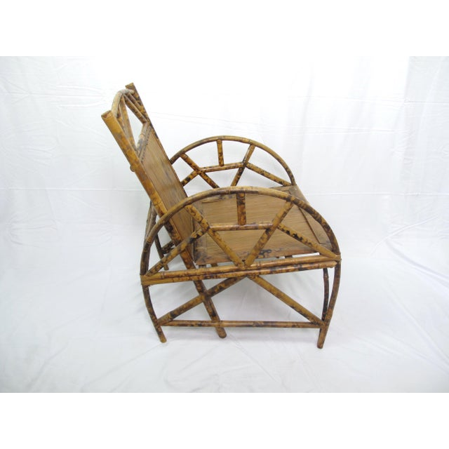 Asian Vintage Chinese Bamboo Chair For Sale - Image 3 of 6