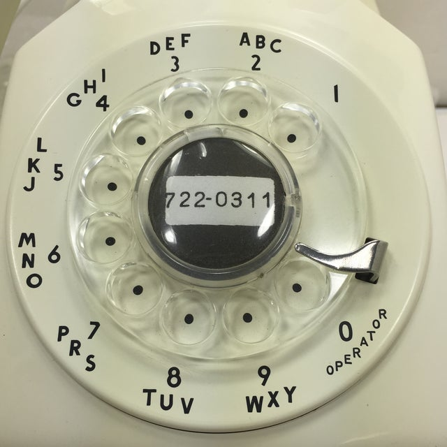 Ivory 1961 Western Electric Rotary Dial Telephone - Image 9 of 11