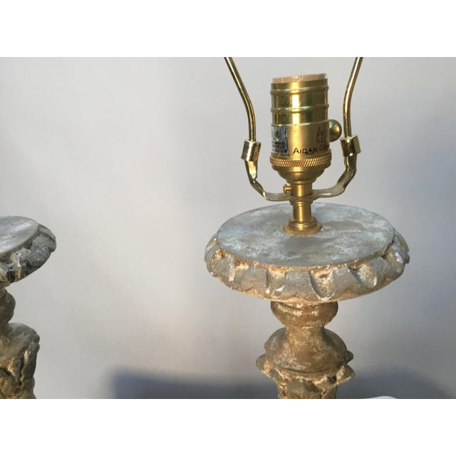 "Late 20th Century Vintage Aidan Gray ""Great Cathedral "" Table Lamps - a Pair For Sale - Image 5 of 11"