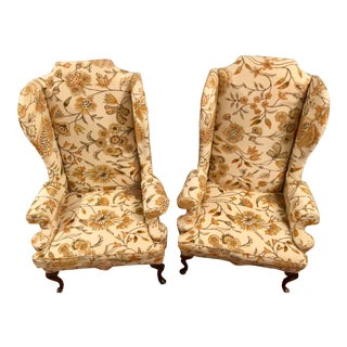Ethan Allen Wingback Chairs - a Pair