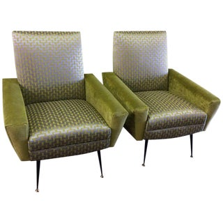 Mid century Vintage Gianfranco Frattini Italian Chairs- A Pair For Sale