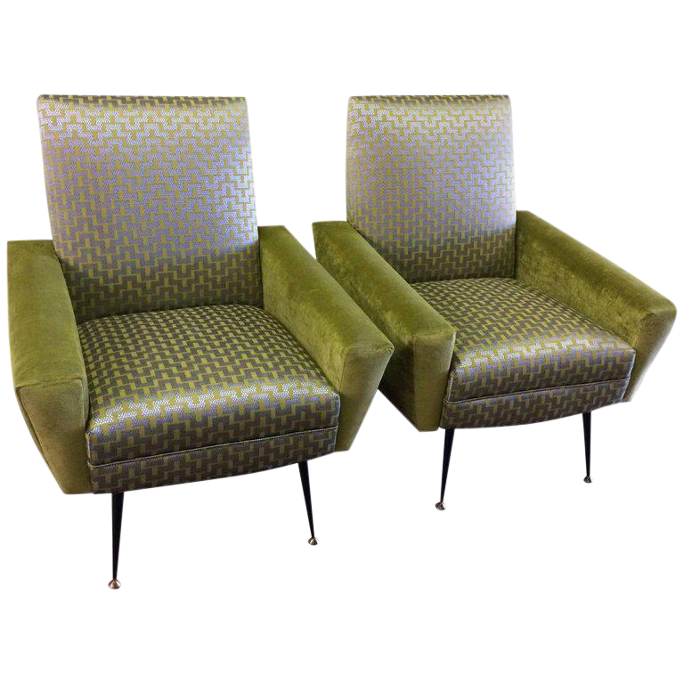 Mid Century Vintage Gianfranco Frattini Italian Chairs  A Pair For Sale
