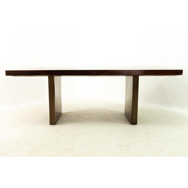 Edward Wormley for Dunbar Mid Century Rosewood and Bronze Executive Desk 84 wide x 38 deep x 29.25 high When you purchase...