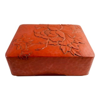Vintage Japanese Red Lacquer Box