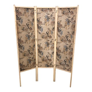 Vintage Floral Screen or Room Divider