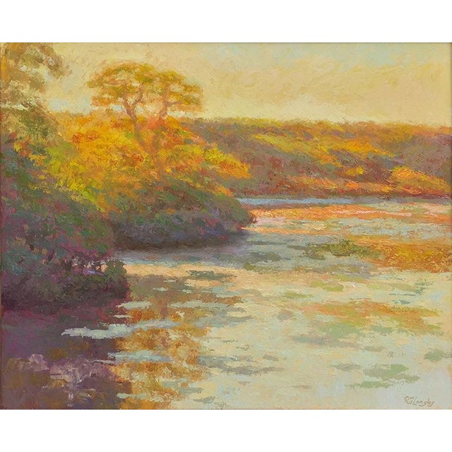 Canvas Rob Longley, Autumn Afternoon, Beech Forest Pond, 2013 For Sale - Image 7 of 8
