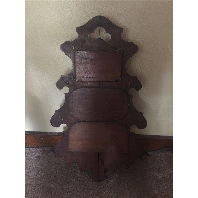 Antique Masonic Freemasonry Wood Shelf - Image 9 of 11