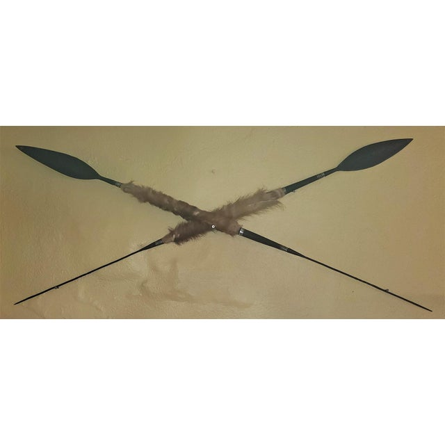 African East African Throwing Short Spears-a Pair For Sale - Image 3 of 11
