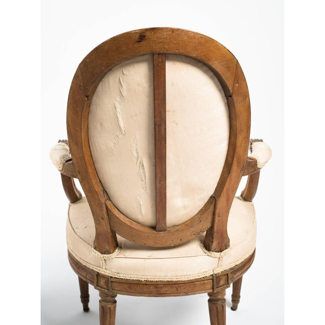 19th Century Vintage French Louis XVI Armchairs- a Pair For Sale - Image 9 of 11