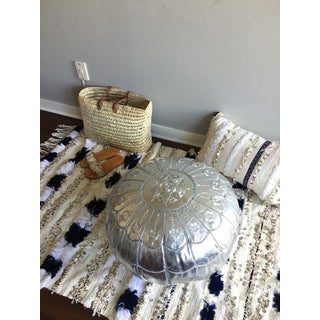 Full Arch Pouf by Mpw Plaza, Silver (Cover) Moroccan Faux Pouf Ottoman Preview
