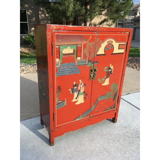 Early 20th Century Chinoiserie Hand Painted Cabinet For Sale - Image 13 of 13