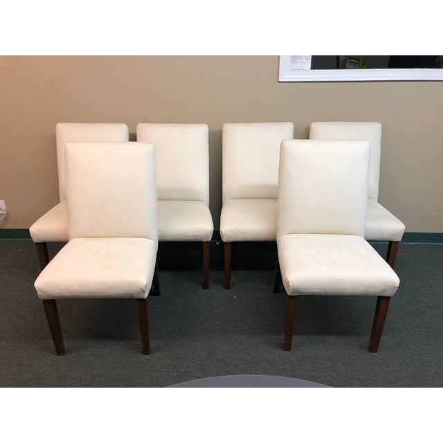 Contemporary Ivory Dining Chairs - Set of 6 For Sale - Image 11 of 11