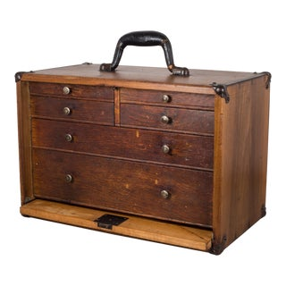 Antique Eight Drawer Oak Machinist's Chest C.1940 For Sale