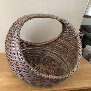 Large Woven Wood Woven Decor & Storage Basket Preview