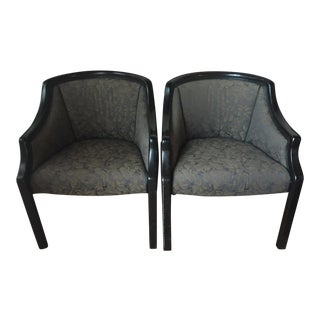 1990s Mid-Century Modern Monteverdi-Young Club Chairs - a Pair