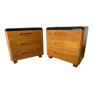 Art Deco Style 3 Drawer Dressers - a Pair For Sale