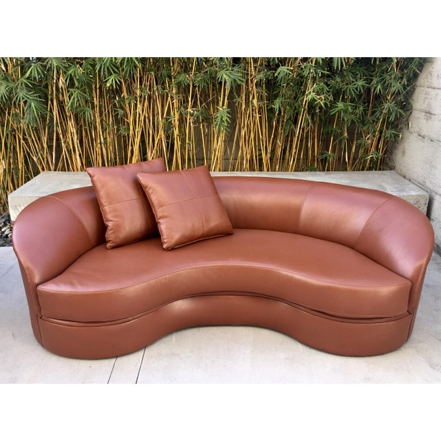 Mid-Century Modern Vladimir Kagan Biomorphic Kidney Bean Shaped Sofa For Sale - Image 3 of 9