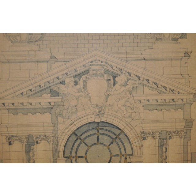 Graphite 18th/19th Century Master Architectural Drawings For Sale - Image 7 of 11