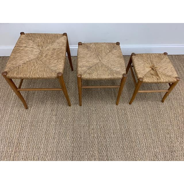 Gio Ponti Gio Ponti Style Nesting Stools- Set of 3 For Sale - Image 4 of 9