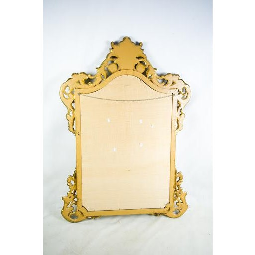 Baroque-Style Carved Wooden Wall Mirror - Image 9 of 9