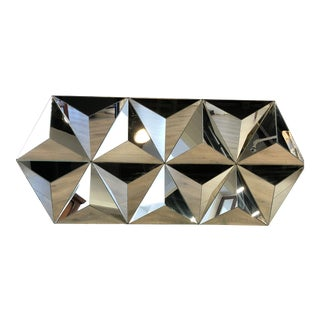 Multi Faceted Pyramid Mirror For Sale