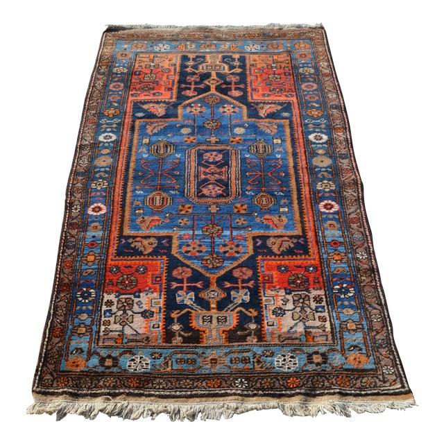 "Vintage Persian Tribal Rug - 4'3"" X 7'4"" - Image 1 of 4"