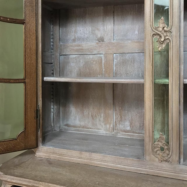 19th Century Country French Provincial Stripped Bookcase ~ Vitrine For Sale - Image 11 of 13