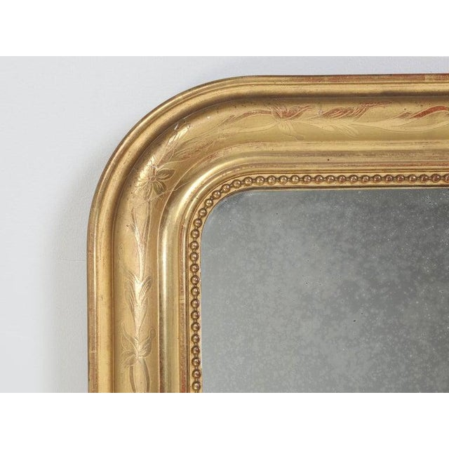 Antique French Louis Philippe Mirror Original Gilding For Sale - Image 4 of 12