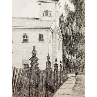 Old Country Church Drawing For Sale