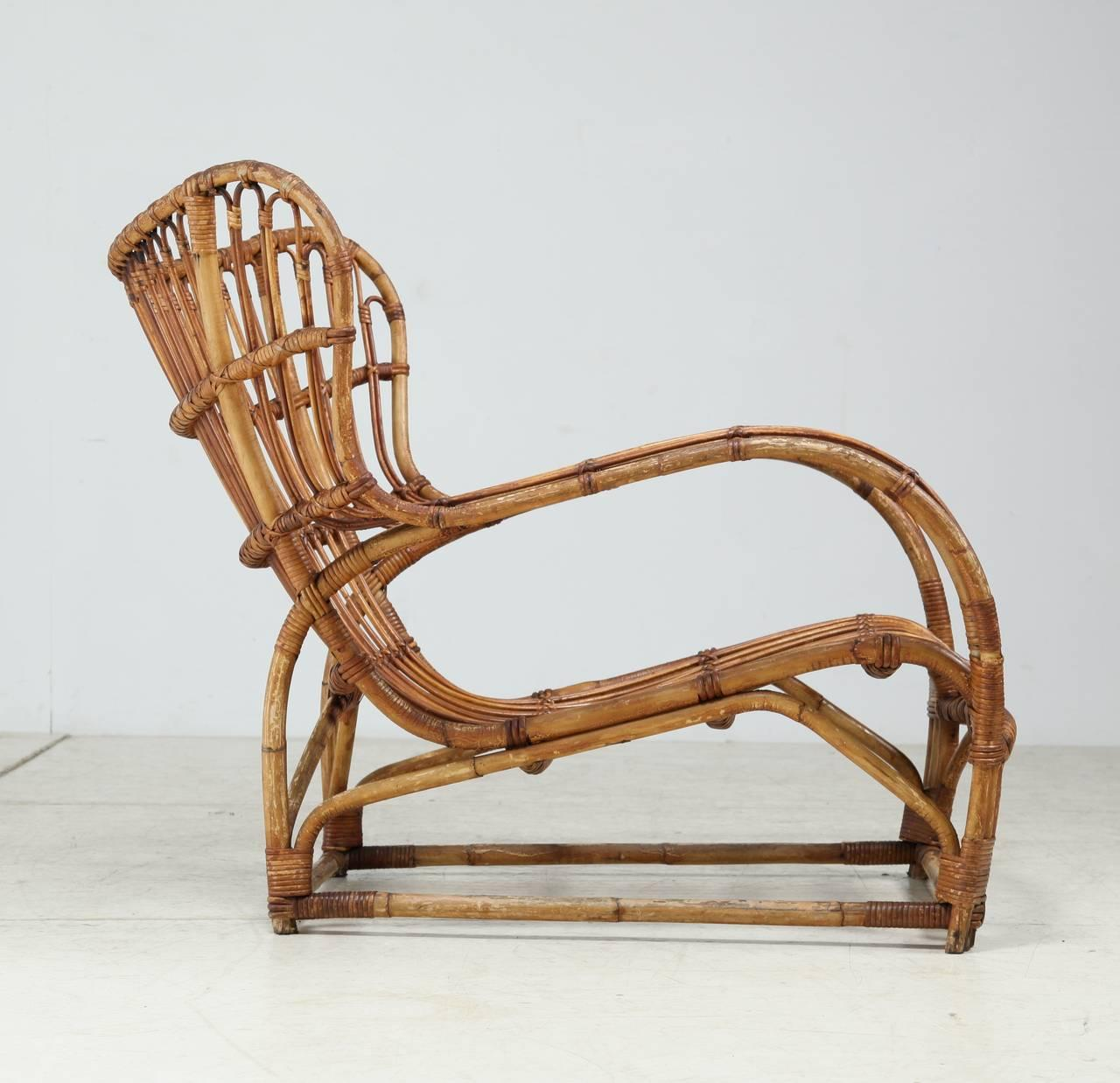 Viggo Boesen Bamboo Lounge Chair For E.V.A. Nissen, Denmark, 1930s   Image  6 Of