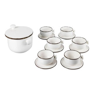 Enzo Bioli Ceramic Dining Set for Il Picchio For Sale