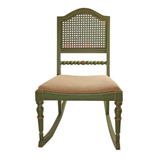 Stihl Antique Farmhouse Boho Chic Rocking Chair For Sale