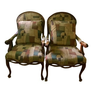 Bassett Accent Chairs - A Pair For Sale