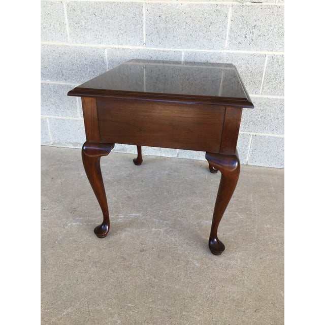 Stickley Cherry Valley Queen Anne Style Side Table For Sale In Philadelphia - Image 6 of 9
